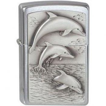 Zippo Dolphins Emblem 2009  -  Free shipping