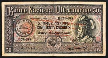 ST.THOMAS PRINCE 50 DOBRAS 1982 P 56 UNC