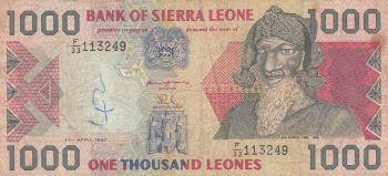 SIERRA LEONE 2 LEONES P-6h UNC