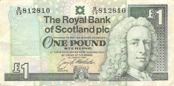 SCOTLAND 5 POUNDS 1998 P-119c UNC
