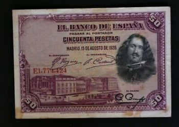 SPAIN 100 PESETAS 7-4-1953 P-145a AUNC No2
