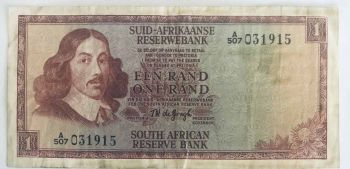 SOUTH AFRICA 1 RAND 1967 P-109b AUNC