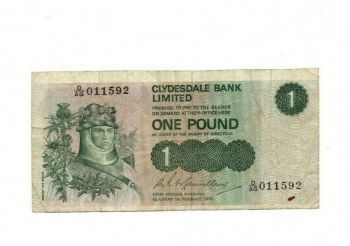 SCOTLAND 1 POUND 1986 UNC