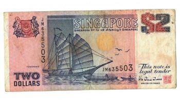 SINGAPORE 1 DOLLAR P 18-UNC