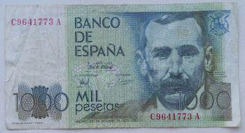 SPAIN 1 PESETA 1953 P-144 UNC