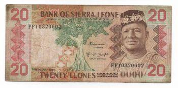 SIERRA LEONE 10 LEONES 1988 UNC