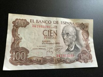 SPAIN 5 PESETAS 1951 (BALMES)  UNC