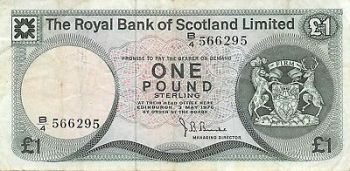 SCOTLAND CLYDESDALE BANK 1 POUND 1985 P-211 UNC