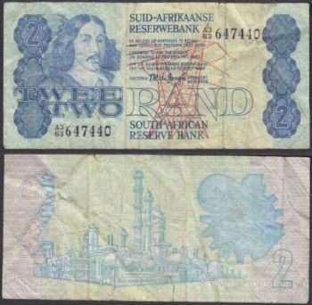 SOUTH AFRICA 20 RAND 2005 P 129 UNC