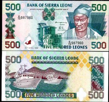 SIERRA LEONE 500 LEONES 27.4.1995 P 23 UNC