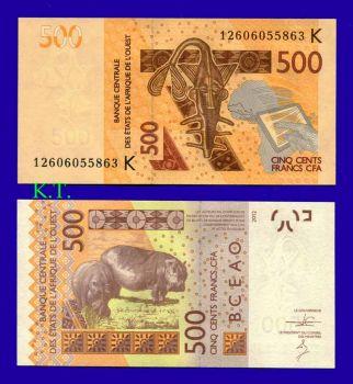 SENEGAL  (WEST AFRICAN STATES) 500 Francs 2012 UNC
