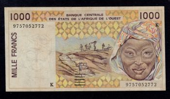 SENEGAL (WEST AFRICAN STATES) 2000 FR 2003 (2008) P-716K UNC