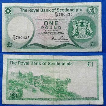 SCOTLAND CLYDESDALE BANK 1 POUND 1988  UNC