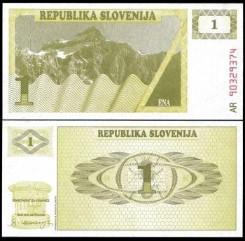 SLOVENIA SET 1 έως 1000 TOLAR UNC SPECIMEN