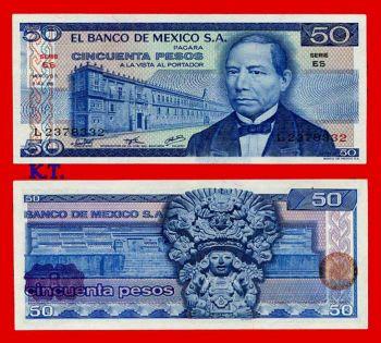 MEXICO 50 PESOS 1976 (JUAREZ )  UNC