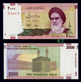 IRAN 2000 Rials 2007 (2009) UNC