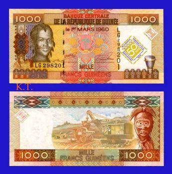 GUINEA 1000 FRANCS 2010 UNC