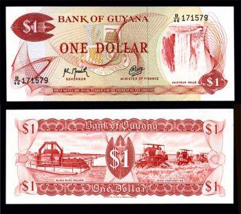 GUYANA 1 DOLLAR P 21g (1992) UNC