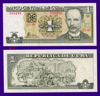 CUBA 1 PESO 2008  UNC