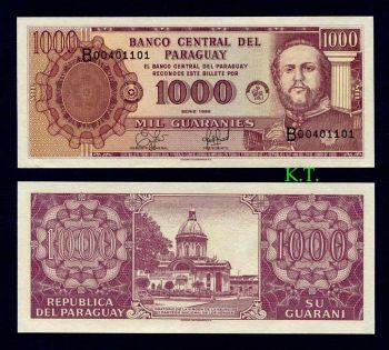 PARAGUAY 1000 GUARANIES 1998 P-214 UNC
