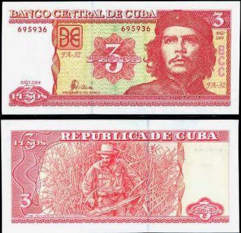 """CUBA 3 PESO 2004  UNC  """"Che Guevara"""""""