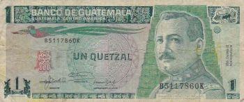 GUATEMALA 1 QUETZAL 2008 POLYMER UNC