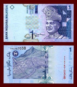 MALAYSIA 1 RINGGIT 2000 P 39 UNC