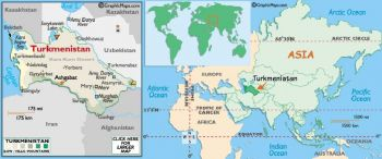 TURKMENISTAN 5 MANAT  P-2 ND 1993 UNC
