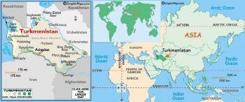 TURKMENISTAN 1  MANAT  1993 UNC