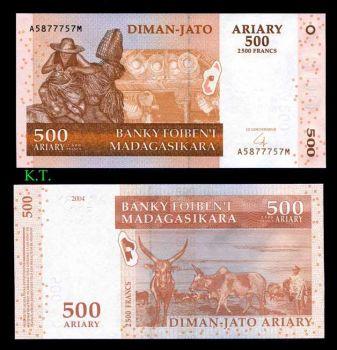 MADAGASCAR 500 ARIARY 2004 P-88 UNC