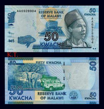MALAWI 50 KWACHA 2012 P-NEW UNC