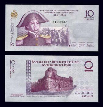 HAITI 10 GOURDES 2012 P-NEW UNC