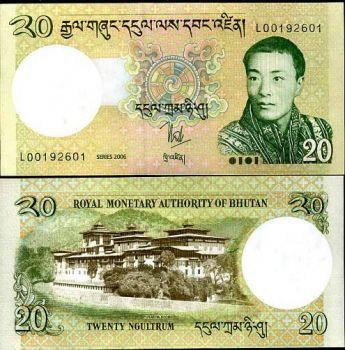 BHUTAN 20 NGULTRUM 2006 P 30 UNC