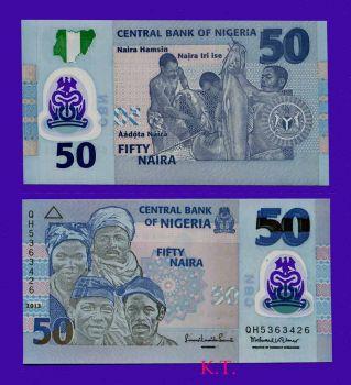 NIGERIA 50 NAIRA 2013 P-NEW POLYMER UNC