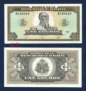 HAITI 1 GOURDE 1989 UNC