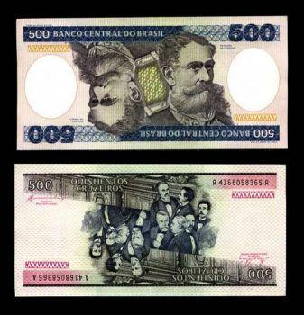 BRAZIL 500 CRUZEIROS P 200 UNC