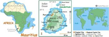 MAURITIUS 5 RUPEES ND 1967 P 30 QE II UNC