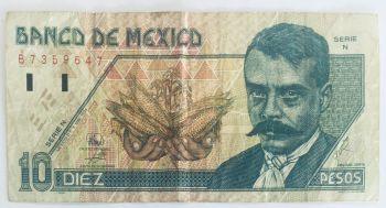 MEXICO 5 PESOS 1971-2 P 62 UNC