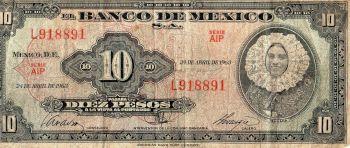 MEXICO 100 PESOS 1973 P-61I AUNC