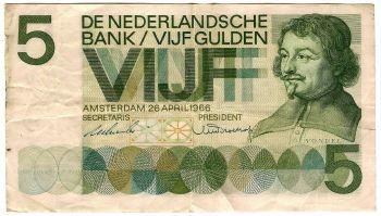 NETHERLANDS 10 GULDEN 25-4-1968 P-91b  UNC