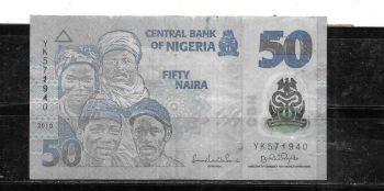 NIGERIA 200 NAIRA 2007 AUNC
