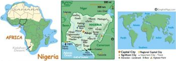 NIGERIA 1 POUND 1967 P-8 UNC