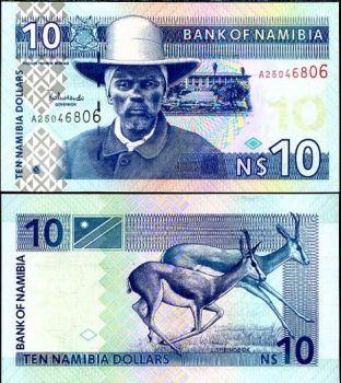 NAMIBIA 10 DOLLARS P 4 UNC