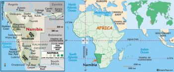 NAMIBIA 20 DOLLARS 2002 P-6 UNC