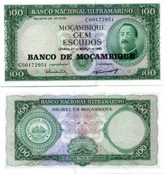 MOZAMBIQUE SET 50-100-500-1000 ESCUDOS UNC