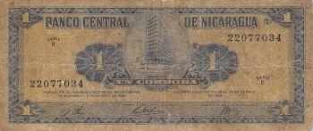 NICARAGUA 1 CORDOBA 1968 P-115 UNC