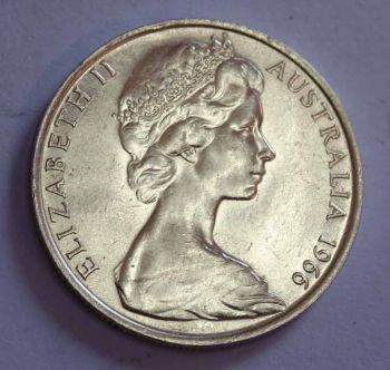 AUSTRALIA 50 CENTS 1966 (KANGAROO-EMU) ΑΣΗΜΕΝΙΟ UNC