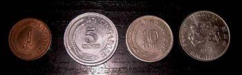 Σιγκαπούρη 4 νομίσματα των 1-5-10-20 cents B
