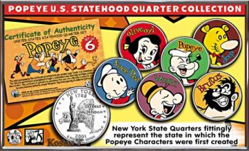POPEYE & FRIENDS U.S Coins