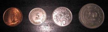 Σιγκαπούρη 4  νομίσματα των 1-5-10-20 cents A